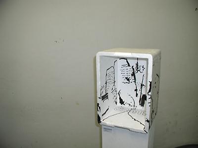 """""""I´m glad it..."""", Wolfgang Kschwendt, 2007, Styropor, Marker"""