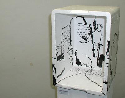 """I´m glad it..."", Wolfgang Kschwendt, 2007, Styropor, Marker, View 2"