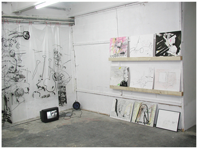 alles was da ist gehört dazu (HELP ME THINK), 15. 12. 2007, Wolfgang Kschwendt, exhibitionview 1