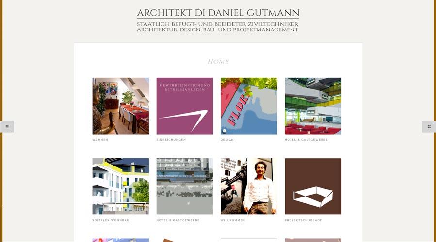 Wolfgang Kschwendt: Design und Umsetzung der Website www.architekt-gutmann.at