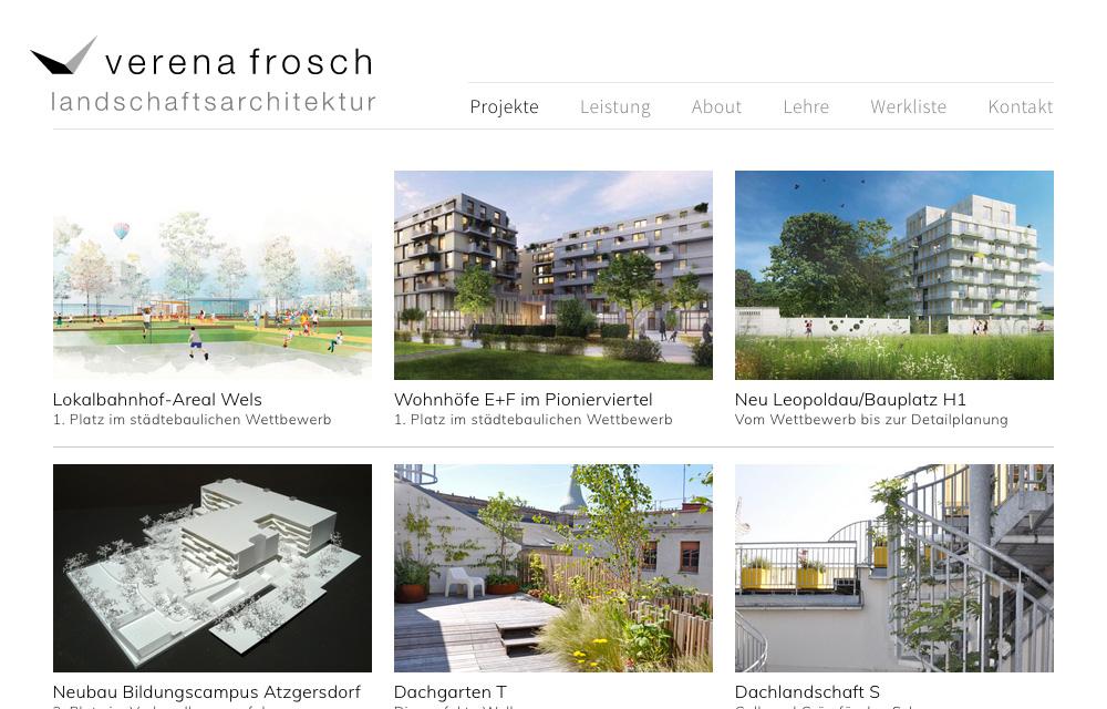 Screenshot Website www.verenafrosch.at