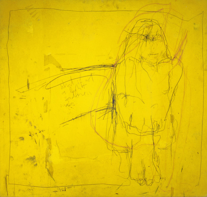 "Wolfgang Kschwendt: ""what if not a light sadness makes"" – 81 x 77 cm, 1998"