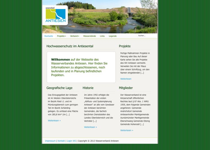 Wolfgang Kschwendt: Design und Umsetzung der Website www.wv-antiesen.at