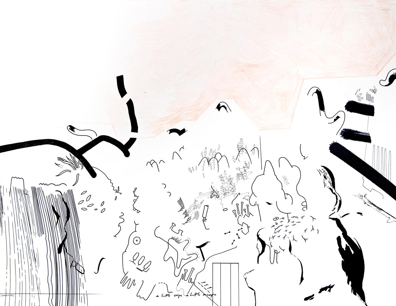 "Wolfgang Kschwendt: Drawing - ""A Little Cope A Little Escape"""