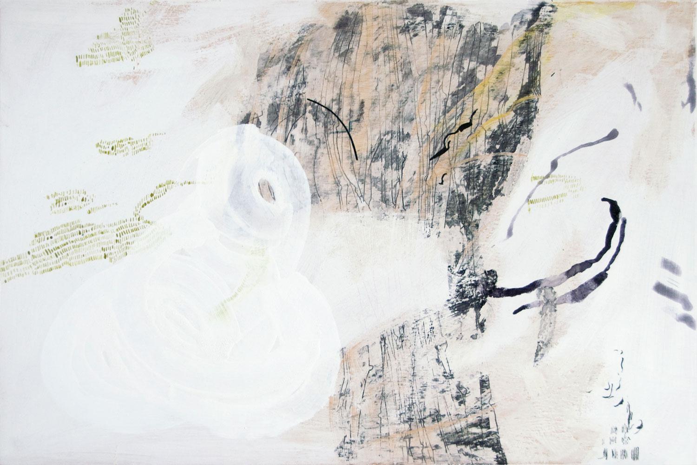 "Wolfgang Kschwendt: ""Wondering In A Wild Range (Wild Wood)"", 60 x 40 cm, mixed media on wood, 2016"